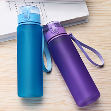 400 560 800 1000ml Multicolor Creative Plastic Water Bottle Outdoor Sports Leakproof Sealed Cup Walking Travel Household Items