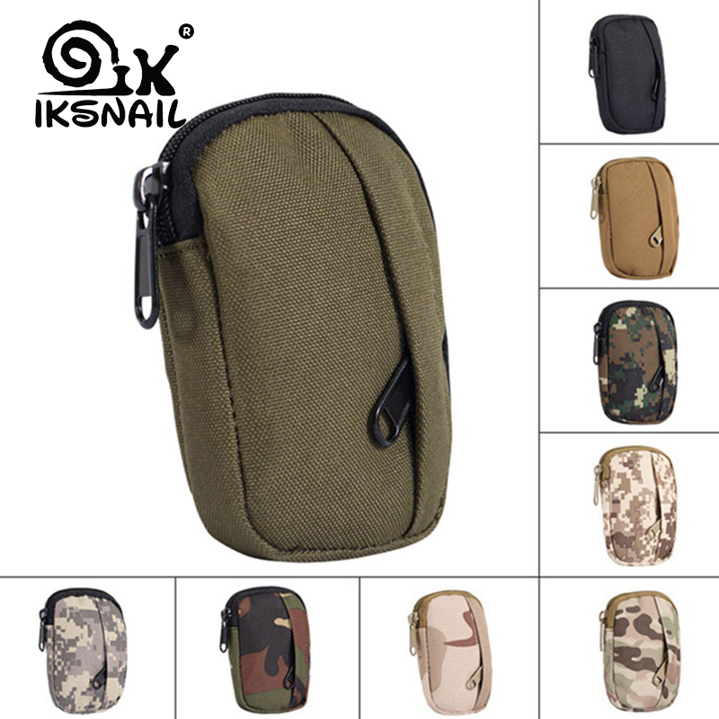 IKSNAIL Military Tactical Bag Camping Hiking Pouch Hunting Sport Pack Functional Camo Bag Molle Pouch Practical Coin Purse