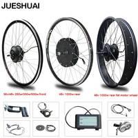 eBIKE Conversion Kit 20 28 inch 700C Electric Bicycle Conversion Kit 48V 500W 1000W 36V 250W 500W Front Rear Hub Motor Wheel