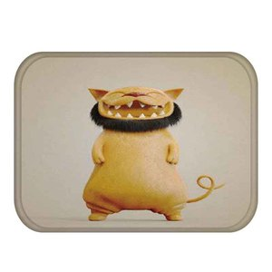 Image 4 - 1 40*60cm 귀여운 동물 패턴 미끄럼 방지 동물 플란넬 두꺼운 카펫 도어 매트 주방 미끄럼 방지 매트 야외 거실 바닥 매트
