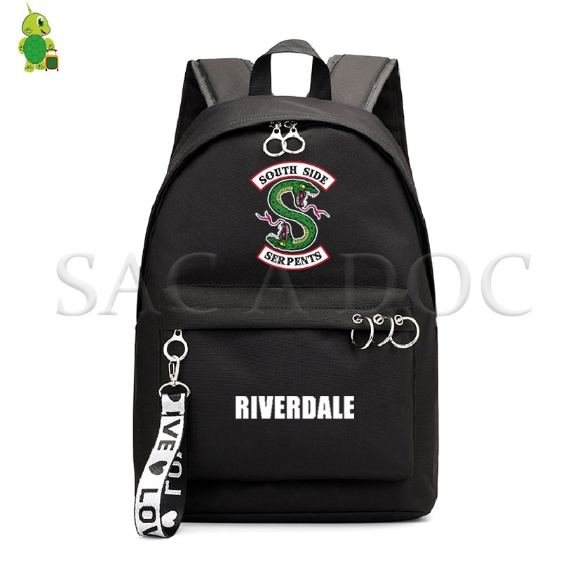 RIVERDALE South Side Backpack Harajuku School Bags for Girls College Students Laptop Backpack Casual Travel Rucksack