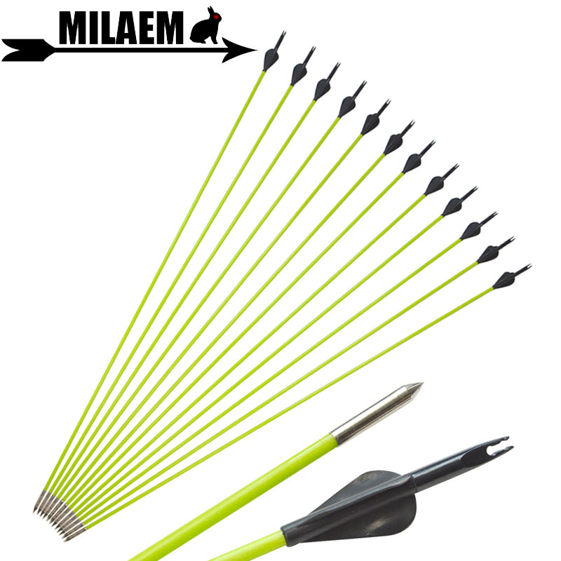 <font><b>6</b></font>/12pcs 31inch Archery Fiberglass Arrow 80cm OD5mm Fixed Arrowhead Spine <font><b>600</b></font> Recurve Compound Bow Targeting Shooting Accessories image