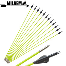 6/12pcs 31inch Archery Fiberglass Arrow 80cm OD5mm Fixed Arrowhead Spine 600 Recurve Compound Bow Targeting Shooting Accessories