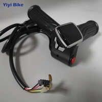 24 v 36 v 48 v display lcd torção do acelerador scooter elétrico bicicleta controle de velocidade com interruptor botão indicador bateria acelerador