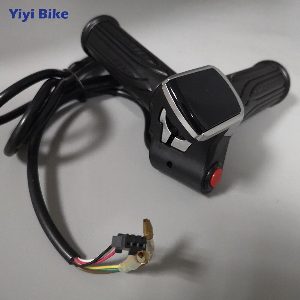 Electric Bike 36V 48V Twist Throttle LCD Display Key Ignition Lock Scooter Ebike