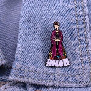 Женская Мартовская эмалированная брошь с эмалью для женщин, феминистских художников мексиканских народных искусств, стойкая брошь Броши      АлиЭкспресс