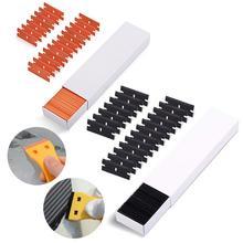EHDIS 200 sztuk Vinyl ściągaczka zapasowa plastikowa żyletka Carbon Film skrobak narzędzie samochodowe szyba okienna woda wytrzeć odcień Cleaner