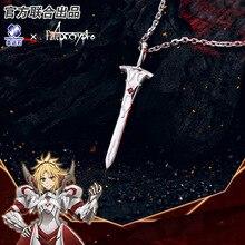 [Fate apocrypha] anime colar fa fgo 925 prata jóias sterling manga papel mordred de sabre cosplay figura de ação presente