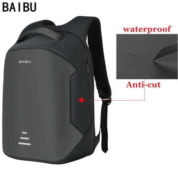 BAIBU New men 15.6 Laptop Backpack Anti Theft Backpack Usb Charging Women School Notebook Bag Oxford Waterproof Travel Backpack - DISCOUNT ITEM  55% OFF All Category