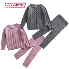 Baby Clothing Set Knitting Pullover Baby Girls Clothes Toddler Boys Clothes Sweater and Pants Baby Set Kids Boutique Clothes cheap Fashion O-Neck Sets 20180618 Cotton Unisex Full Regular Fits true to size take your normal size Coat Solid Children 66-73-80-90-100-110