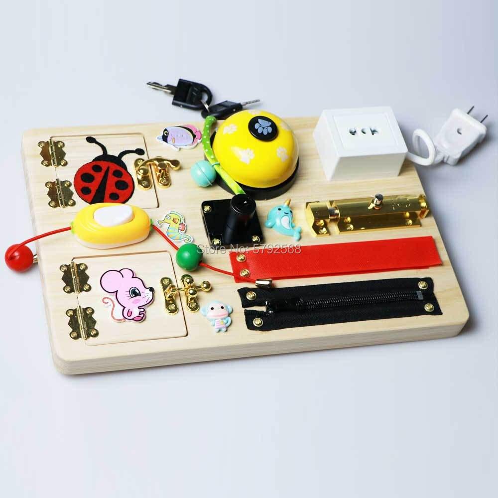 Tablero de juguete montessori para bebés, piezas de elementos de juguete de madera diy para niños pequeños, juguetes para mesa de actividades, educación temprana para niños - 4