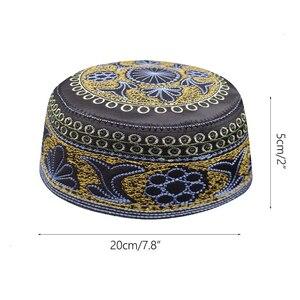 Image 2 - New black muslim hats for men Prayer Beanie Turkish Arabic Hats Knitted Islamic Caps Headscarf Clothing Crochet Islamic Fashion