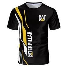 2021Gato Caterpillar 3dt Camisa Vero Interessante Avatar Impresso Camiseta Masculina Topos Preto Polyes T Moda Manga Curta