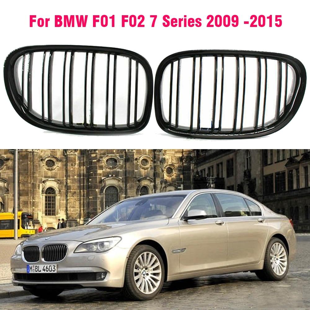 Грили для передних почек, глянцевый черный для BMW F01 F02 7 Series 2009 2010 2011 2012 2013 2014 2015