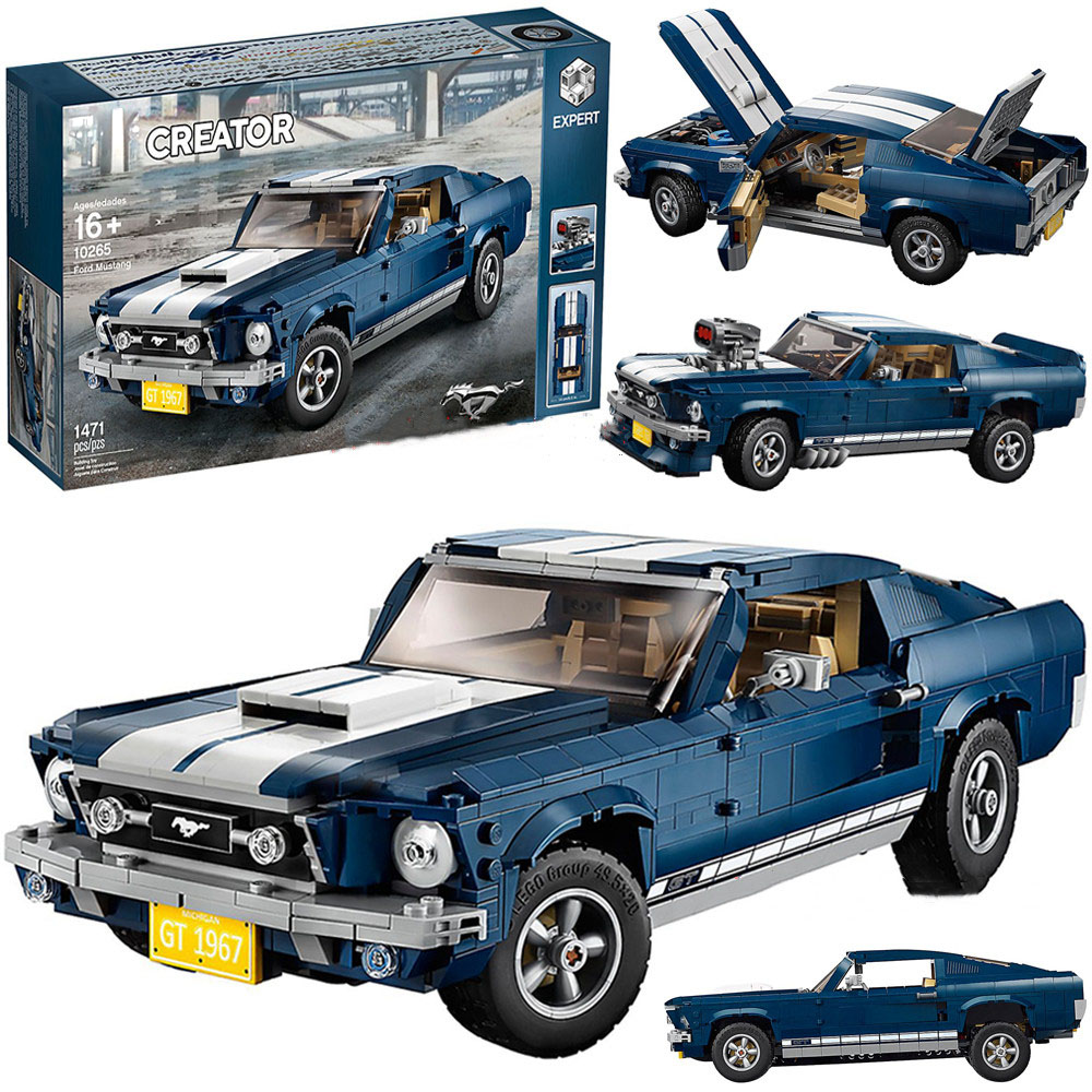 In Stock Ford Mustang 21047 Creator Expert Building Blocks Bricks Toys Gifts For Kids Children Compatible 10265