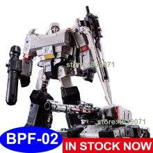 BPF Hành Động Hình Đồ Chơi BPF 02 BPF02 G1 G2 Mở Rộng Galvatron Mega Tank OP Chỉ Huy Xe Tải Biến Dạng Robot Biến Hình