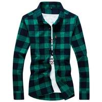 Legible Hot New Fashion Trend Suede Men Shirt Long Sleeve Slim Fit Plaid Shirt Men High Quality Cotton Mens Dress Shirts