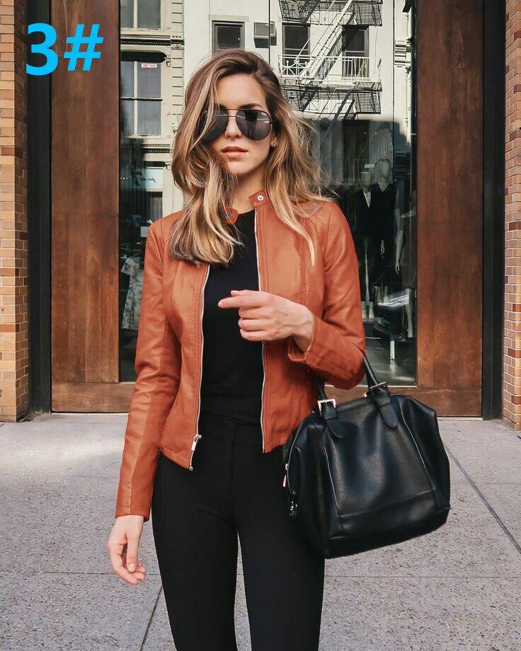 H539c102d3896449faf97832c08e39a21c 2021 Women Winter Coat Jacket Thicken Fashion Long sleeve Outwear PU Leather Jacket warm Coats For Women Autumn Women's Clothing