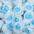 Искусственные головки розы из пенополиэтилена, 200 шт., ручная работа, украшение для дома и свадьбы, скрапбукинг «сделай сам», двухцветные иск...