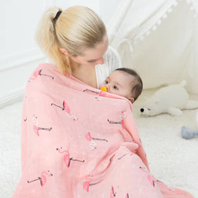 Bamboo Baby Swaddling Blanket Envelope for Discharge 120*120cm Newborn Swaddle Towel Nursing Stroller