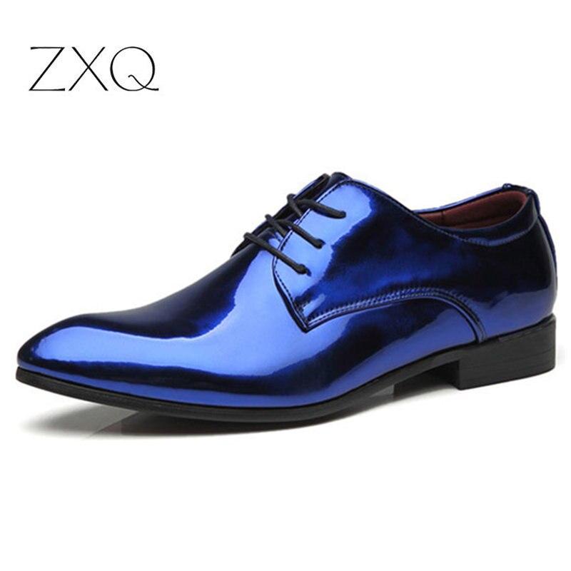 Luxury Men Patent Leather Oxford Shoes Pointed Toe Business Wedding Oxford Shoes For Men Dress Shoes Zapatos De Hombre