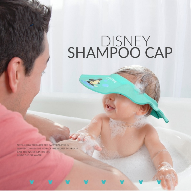 Disney Catoon Mickey Minnie Mouse Baby <font><b>Shampoo</b></font> <font><b>Cap</b></font> 1-10 Years <font><b>Washing</b></font> <font><b>Hair</b></font> Cute <font><b>Shower</b></font> Shields <font><b>Kids</b></font> Children Care <font><b>Bath</b></font> <font><b>Hats</b></font> image