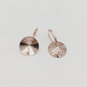 Image 4 - Ms.Betti 14Mm Rivoli Oorbellen Bevindingen 1122 Oostenrijkse Crystal Copper Instellingen Met Franse Lever Terug Voor Sieraden Diy Maken