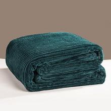 Bonenjoy cobertor de flanela, cobertor macio verde para cama