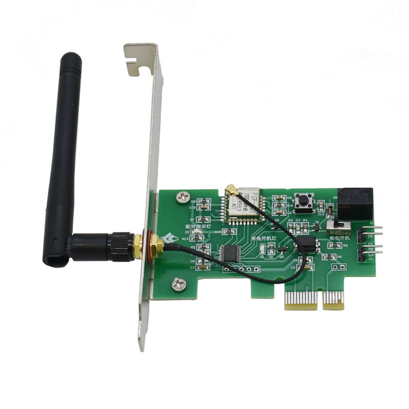 HOT-Wireless Remote Control Switch Wifi Smart App Controlled Timer Switch Card For Turn On/Off Computer Wireless Network Card