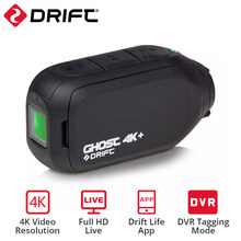 Drift Ghost – caméra de Sport 4k + HD, pour moto, vélo, casque usé, avec application Wifi, contrôle, batterie 1950mAh