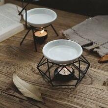Железная ароматерапия Арома масляные горелки стеклянная Арома масляная лампа подарки ремесла домашний декор JS22