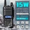 BAOFENG 15W Updated Version UV-9R Plus Walkie Talkie VHF UHF Dual Band Handheld Two Way Radio