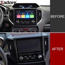 Per Subaru XV Crosstrek SUV 2018 2019 2020 In Fibra di Carbonio Air Condition Vent Della Copertura Trim Sticker Accessori Interni Car Styling