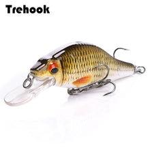 TREHOOK 4g/11g/22g Black Minnow Wobblers Pike Fishing Lure Artificial Bait Hard Swimbait Mini Crankbaits Fishing Tackle Lures