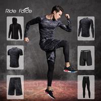 Chándal de compresión para hombre, ropa deportiva para gimnasio, entrenamiento, ejercicio, medias de entrenamiento, correr, trotar