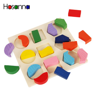 Image 2 - Wooden Geometric Shapes Sorting Math Montessori Puzzle Preschool Learning Educational Game Baby Toddler Toys for Children