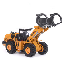 1/50 Scale Alloy Forklift Model Die-cast Metal Truck Car Wood Grab Machine Excavator Toy Engineering Toys F Kids Collection 114