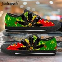 Jackherelook Jamaica Print 2019 New Fashion Canvas Shoes Women Men Running Sneakers Vulcanized Shoes Outdoor Flats Shoe