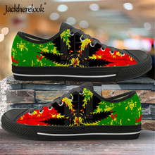 Jackherelook Jamaica Print 2019 New Fashion Canvas Shoes Wom