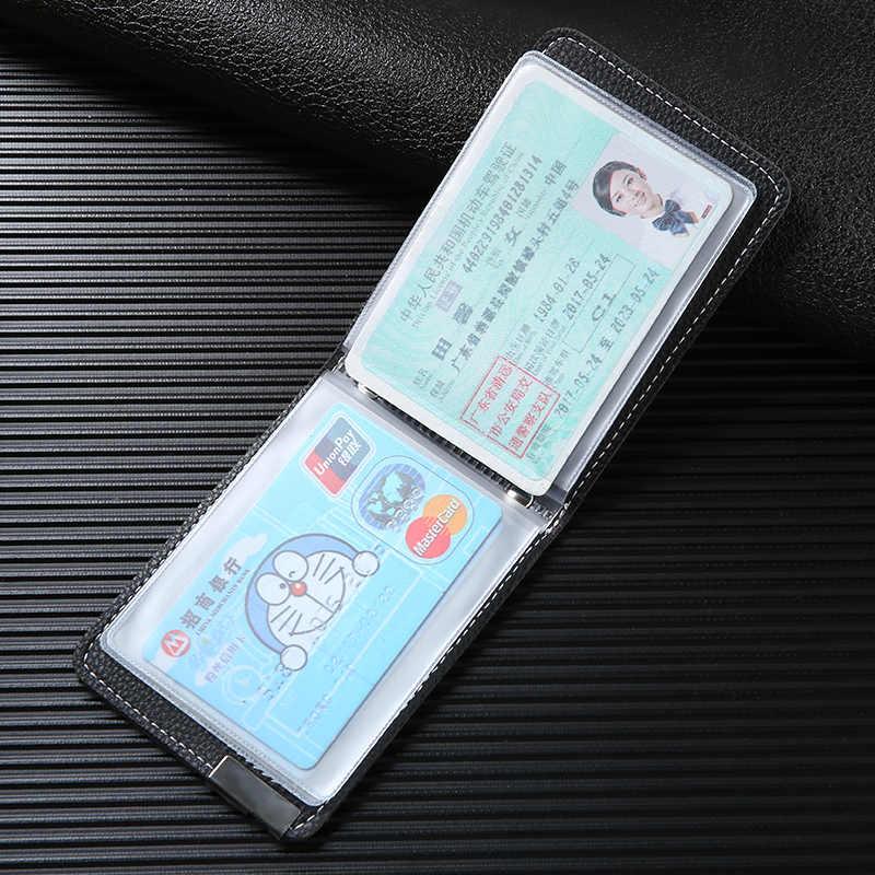 2019 nouvelle mode hommes femmes permis de conduire couverture de haute qualité en cuir ID crédit porte-carte étui sacs Carteira Feminina homme
