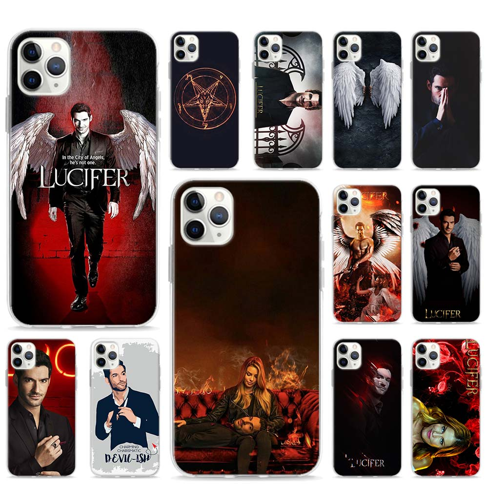TV Series Lucifer <font><b>Ghost</b></font> <font><b>Case</b></font> For Apple iPhone SE 2020 11 Pro Max XR X XS 6 7 8 SE2 Plus Phone Cover <font><b>Shell</b></font> image