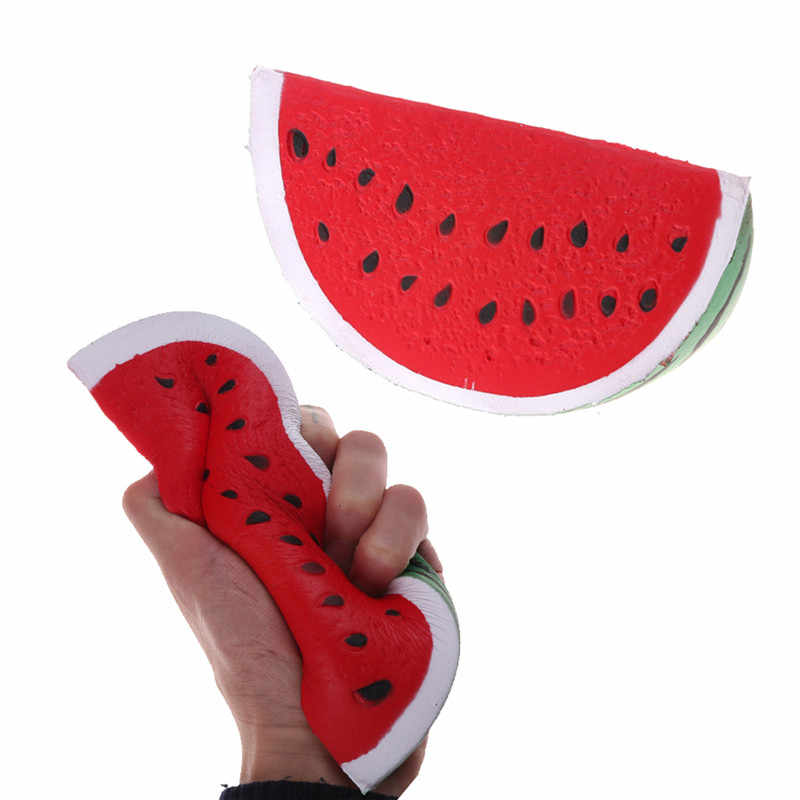 18cm Jumbo Squishy Watermelon Kawaii Anti Stress Super Slow Rising Fruit Squeeze Stretch Bread Cake Kid Toy Gifts Phone Straps Mobile Phone Straps Aliexpress