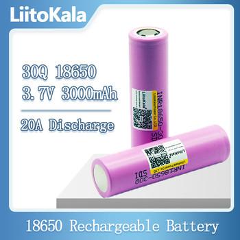 LiitoKala 100 oryginalny nowy akumulator INR18650 3 7V 18650 3000mAh INR18650 30Q akumulatory litowo-jonowe tanie i dobre opinie 30Q 18650 3000mah Li-ion Rohs 3001-3500 mAh CN (pochodzenie) Tylko baterie