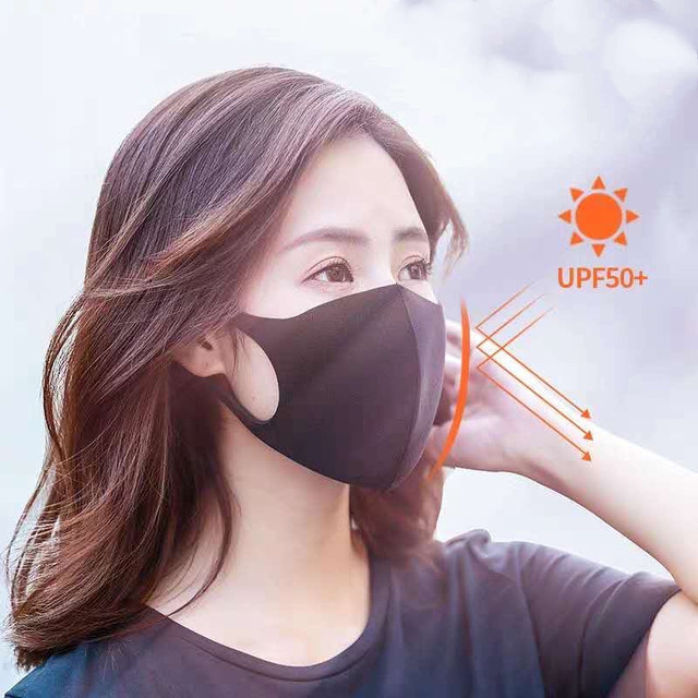 2pcs Multi-Style Kids Solid Kpop Cotton Mouth Mask Anti dust Mouth-muffle Washable Black Mask On Face For Adult Respirator Mask 5