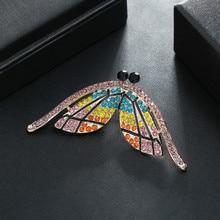 Fashion Multicolor Rhinestones Brooch Creativity Insect Temperament Tide Alloy Unisex Personality All-match Brooch 2020 rhinestones christmas hat brooch