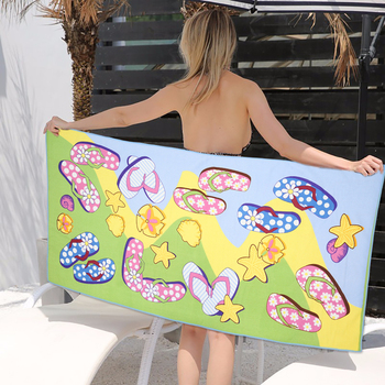 Microfiber beach towel bathroom to