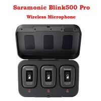 Saramonic Blink500 Pro-micrófono de solapa inalámbrico para cámara DSLR, 500 GB Hz, doble canal, 2,4 Ultracompact