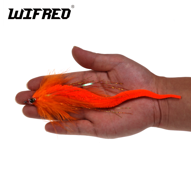 Wifreo 2pcs 17~19CM Dragontail Fly for Bass <font><b>Muskie</b></font> Fishing <font><b>Lures</b></font> for <font><b>Big</b></font> Game Fly Fishing Baitfish <font><b>Lure</b></font> <font><b>Big</b></font> Fishing Flies image