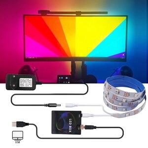 Led strip controlador ambiental 5v usb diy tv hdtv computador monitor backlight pc sonho tela caixa de luz para endereçável led strip