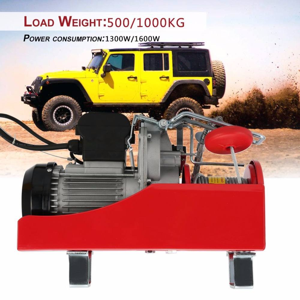 FR Practical Electric Winch Motor Winch Recovery Cable Pull Motor Winch Load Capacity 500/1000KG Car Auto Lift Winch Accessory